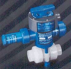 signals the open or closed position of the ball valve